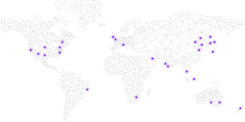 Informa global locations map